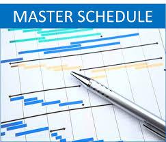 Master Schedules