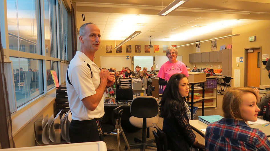 2015-01-09 Gail Greaney VFK HS Teacher of the Year